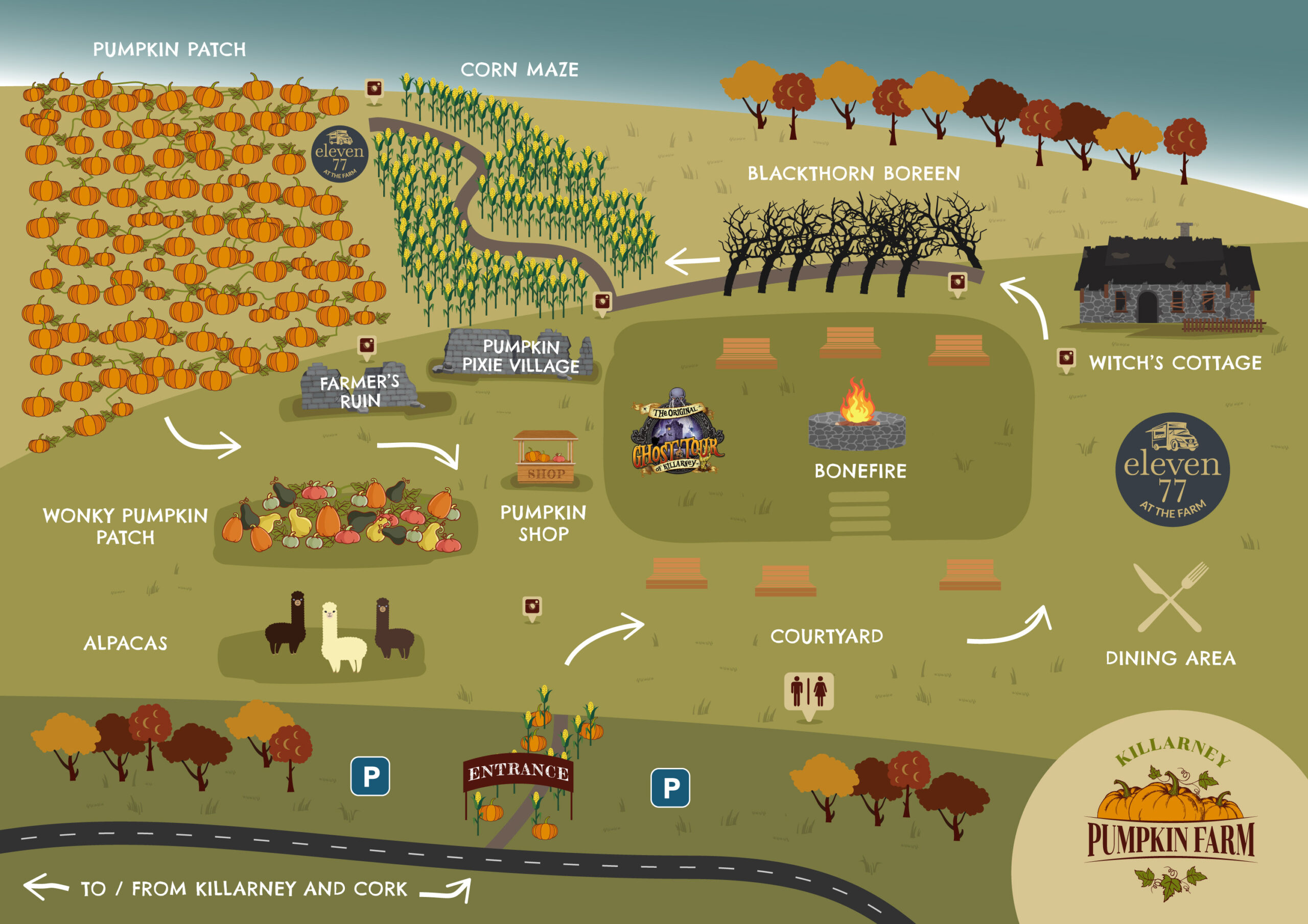 Killarney Pumpkin Farm Map